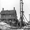 PA131946 Canal Swing Bridge PileDriver 1890