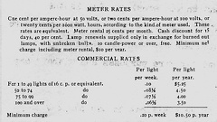Agreement Electric  Rates 1905